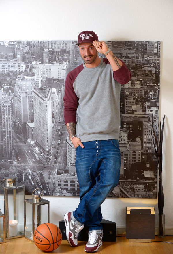 Jan Leyk zeigt sich am liebsten sportlich-lässig