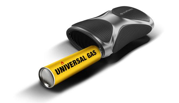 In 3 Sekunden ist das kraftwerk mit gewöhnlichem Feuerzeuggas wieder komplett aufgeladen.
