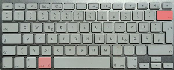 zelle löschen tastaturkürzel