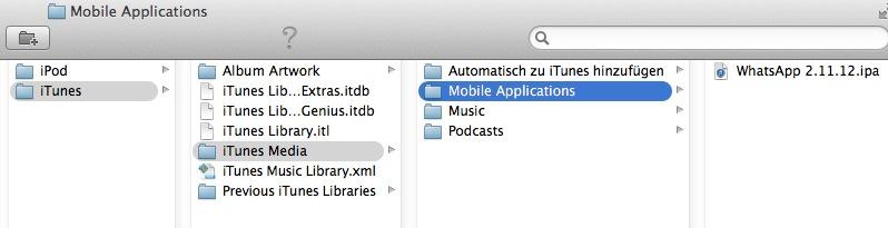 WhatsApp auf dem iPad iTunes Media > Mobile Applications