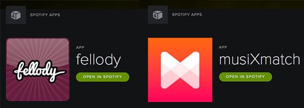 Mit Apps wie fellody oder musiXmatch kannst du Spotify um viele Funktionen erweitern.