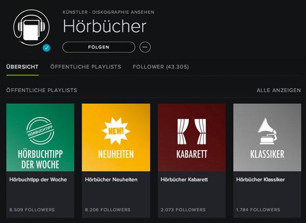 Hörbücher auf Spotify anhören
