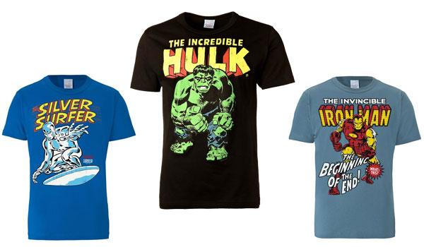 superhelden t-shirts hulk ironman silversurfer