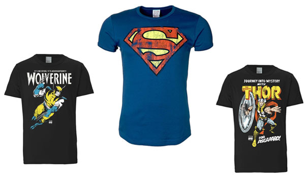 superhelden t-shirts superman wolverine thor