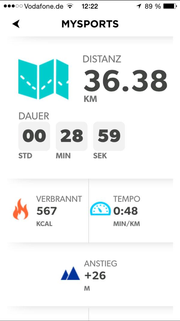 TomTom Runner Cardio GPS app