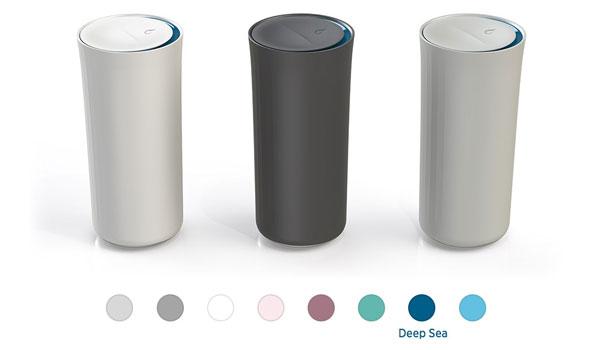 Den Vessyl-Becher gibt es in individuell zusammenstellbaren Design-Varianten