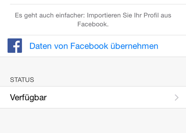Verbinde WhatsApp mit Facebook