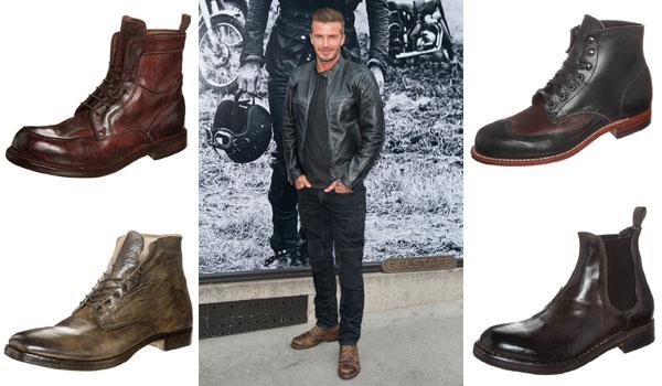 David Beckham macht's vor: Derbe Boots im Used-Look
