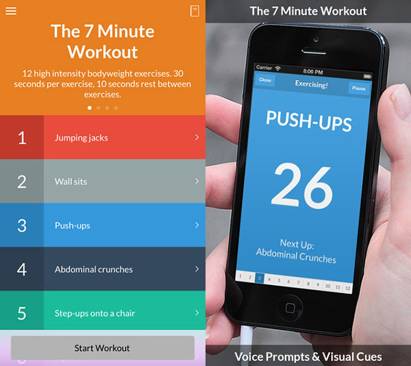 Fit in 7 Minuten - mit dem 7 Minute Workout App