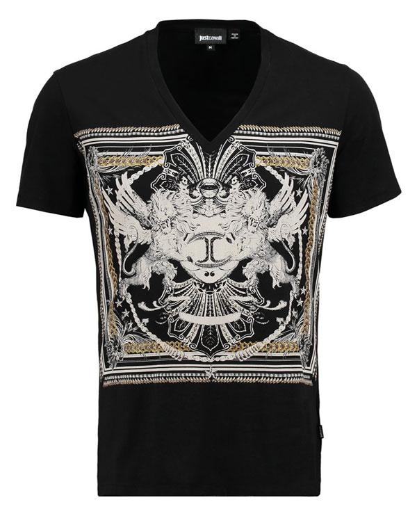 Just Cavalli T-Shirt print - black