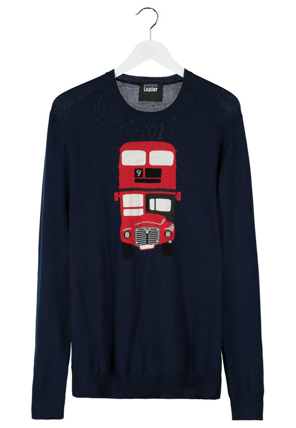 Markus Lupfer LONDON BUS - Strickpullover - navy