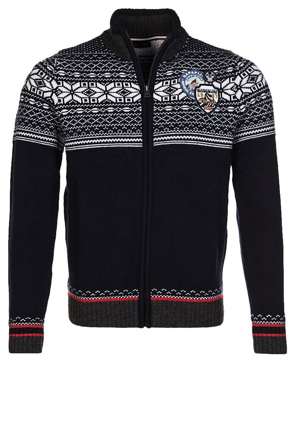 Napapijri DEEMER - Strickjacke - blue marine