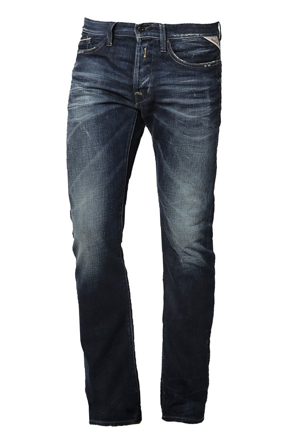 Replay WAITOM Jeans Straight Leg - dark blue used