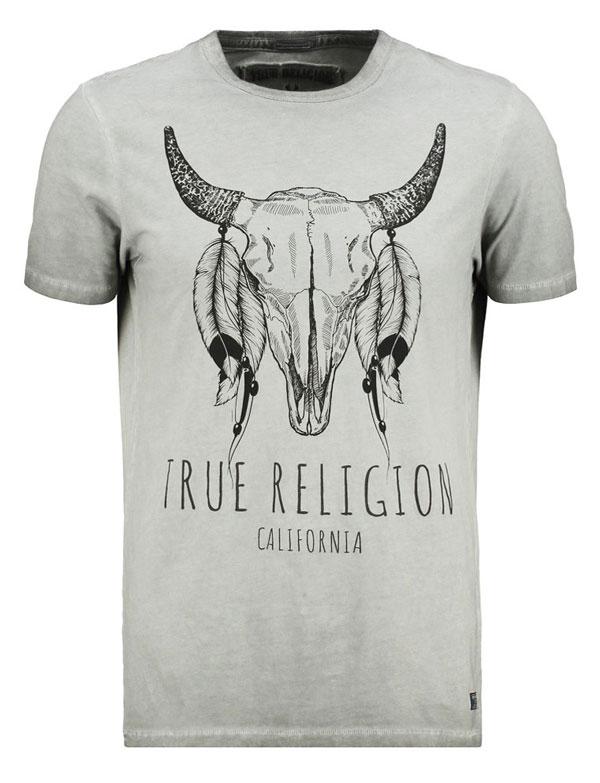 True Religion LONGHORN - T-Shirt print - castlerock