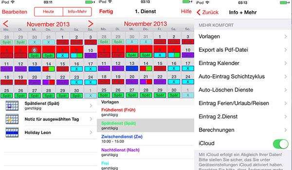 dienstplan kalender app schichtplan