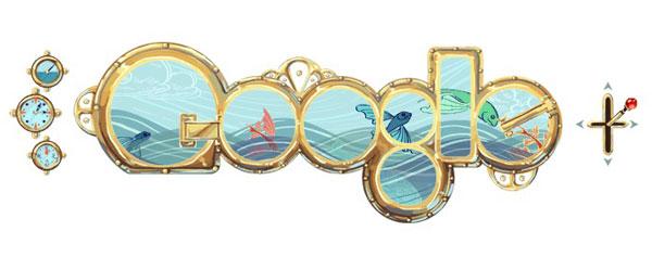 Google Doodle Jules Vernes