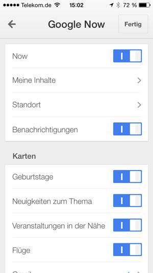 iPhone 5 google-now-standort-deaktivieren