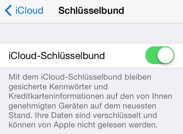 iCloud Schlüsselbund