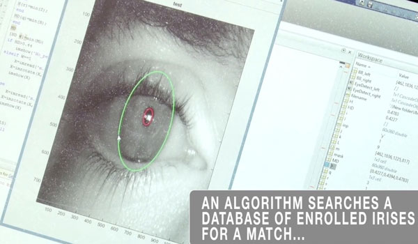 Werden solche Iris-Scanner bald Standard in Polizei-Autos?