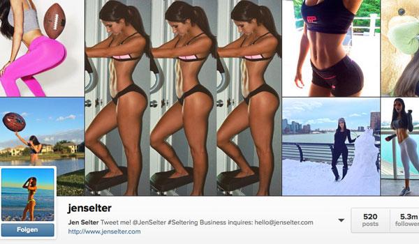 Über 5 Millionen Fans folgen Jen Selters Hintern auf Instagram