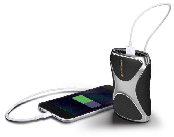 Das kraftwerk hält für ca. 11 Aufladungen deines Smartphones.
