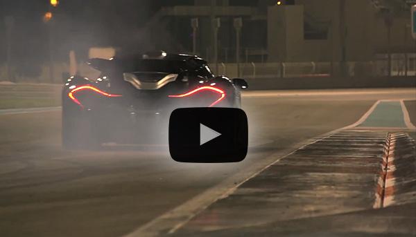 McLaren P1 auf dem Yas Marina Circuit in Abu Dhabi