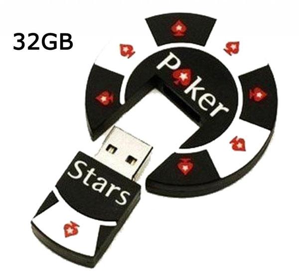 SUNWORLD® Poker Stars Chip mit USB Stick Speicherstick (USB 3) 16GB