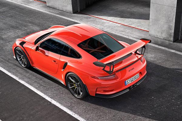 Porsche GT3 RS von oben