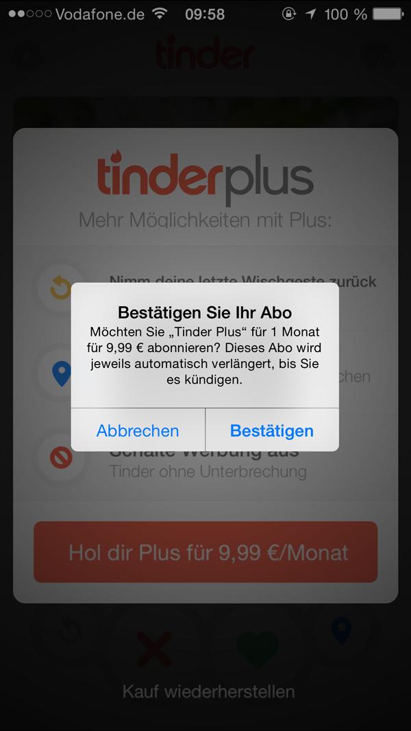 Tinder Plus update