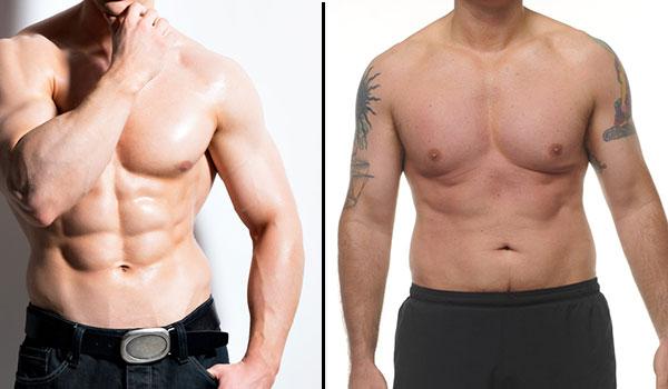 Waschbrett Bauch vs. Waschbär Bauch