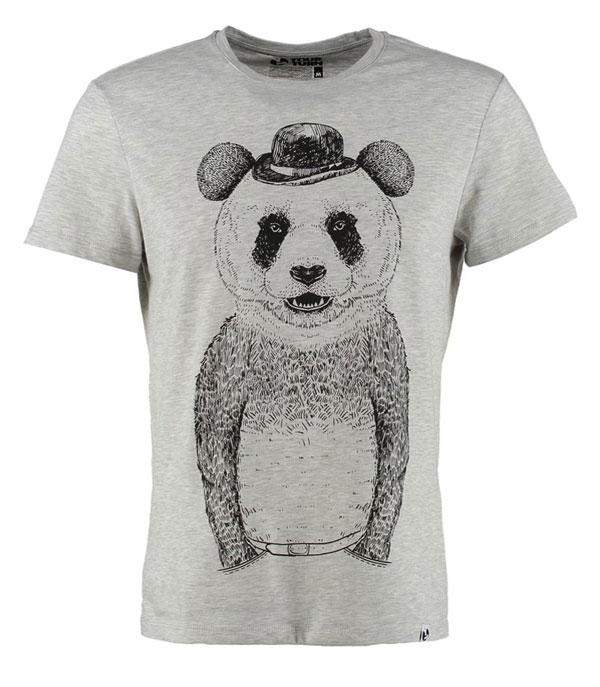 YOUR TURN PANDA - T-Shirt print - light grey melange